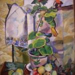 Stilleven met geraniums, circa 1908-1909 Natalja Gontsjarova (1881-1962)
